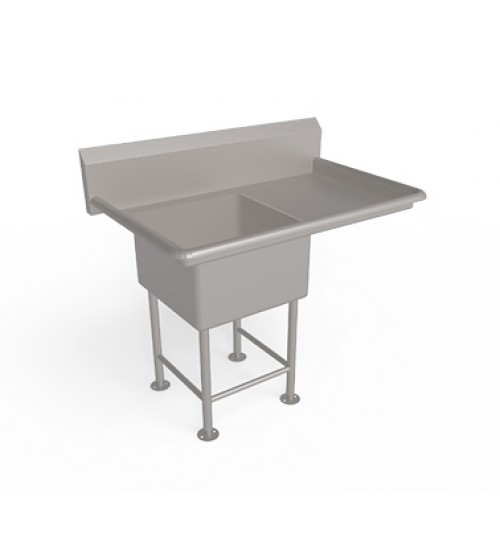 Single Bowl  Sink Unit with Drain Board