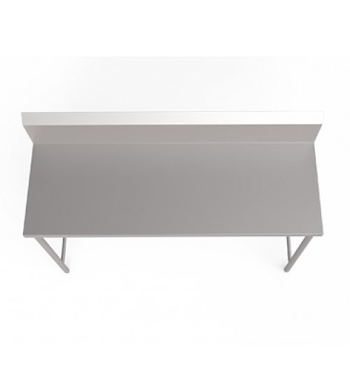 stainless steel work table with backsplash with out undershelf - Stainless Steel Work Table With Backsplash