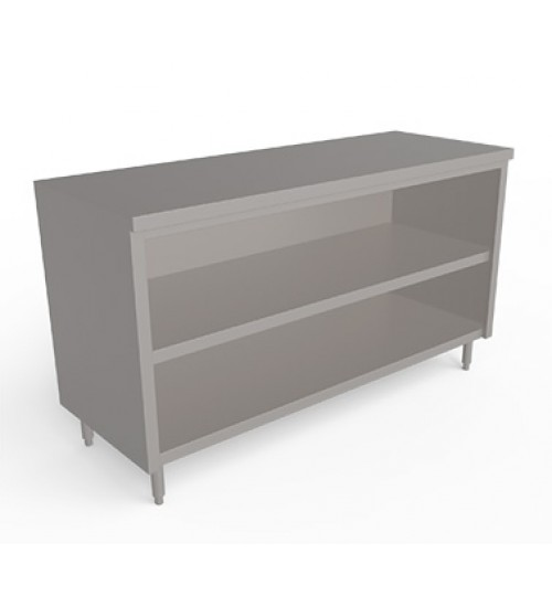 Stainless steel Worktop counter with open front