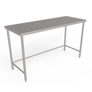 Stainless steel  work table  with out Undershelf  and Backsplash