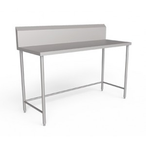 Stainless steel  work table  with Backsplash with out Undershelf